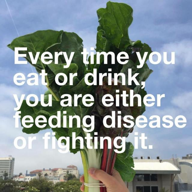 every time you eat or drink